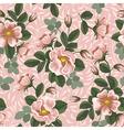 Seamless rose wallpaper vector image