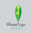 Shape Yoga vector image