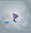 thailand information map vector image