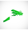 Vintage Plane With Banner Symbol Icon vector image