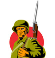 World War Two American Soldier vector image vector image