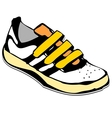 Cartoon sneakers shoe vector image