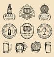 old brewery logos set kraft beer retro images vector image