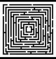 2d black maze vector image vector image