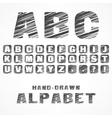 A B C caps alphabet vector image vector image
