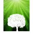 green burst tree vector image vector image