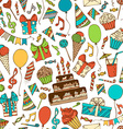 bright birthday boundless background vector image