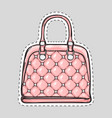 handbag patch with handle clips isolated in flat vector image