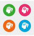 head with brain icon female woman symbols vector image