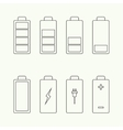 Icons battery charge indicator vector image