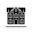 school building icon black vector image
