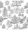 seamless background from christmas trees vector image