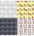 set of womens shoes seamless pattern background vector image