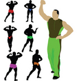 weightlifting vector image