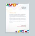 modern creative colorful leterhead design vector image