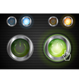 Power glossy buttons with the same illumination vector image vector image