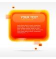 Abstract speech bubble vector image vector image