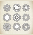 Circle ornament frame vector image