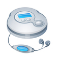 icon cd player vector image vector image