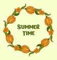 summer postcard cover bright background for vector image