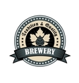 Brewery icon for tradition and quality vector image