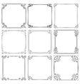 Set of different decorative frames vector image