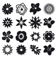 a set of silhouettes of flowers vector image