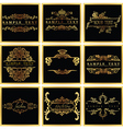 Decorative Ornate Golden Quad Frames vector image vector image