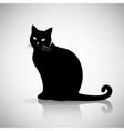 Silhouette of a Cat Sitting vector image