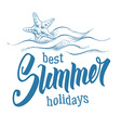 Best Summer Holiday vector image