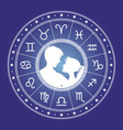 couple man and woman and horoscope vector image