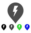 electric shock marker flat icon vector image