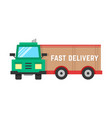 fast delivery through big truck vector image