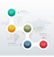 five steps infographic design for business vector image