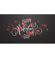 Glowing of sparkling red hearts on transparent vector image