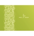 Green lace leaves vertical seamless pattern vector image