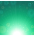 Green shining background vector image