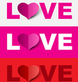 Love design set vector image