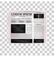 Newspaper headline vector image