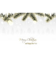 winter scenery with golden branches snowflakes vector image