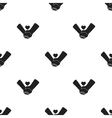 Hands icon in black style isolated on white vector image