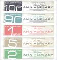 Anniversary retro banner set vector image