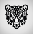 Tribal Bear Face vector image