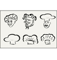 icons chefs and hubcaps vector image