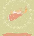 Cartoon of a very cute angel in a wreath vector image