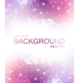 Abstract Polygon Pink Background vector image