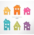 Set of colorful houses icons vector image vector image