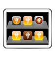 icecream orange app icons vector image