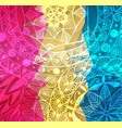 colorful red pink and yellow paint vector image