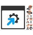 gear integration calendar page icon with lovely vector image